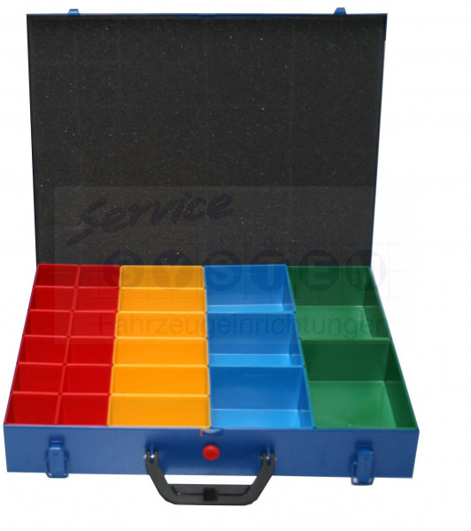 SK Sortimentskoffer mit 24 Kunststoffboxen SK66-24