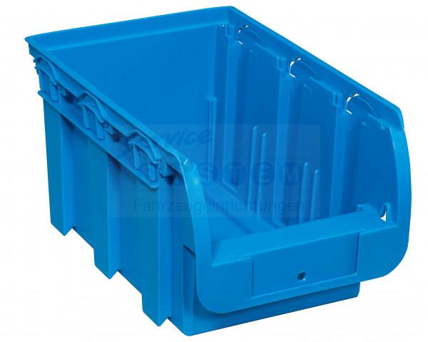 SB Stapelsichtboxen aus PP Compact 3-260 blau
