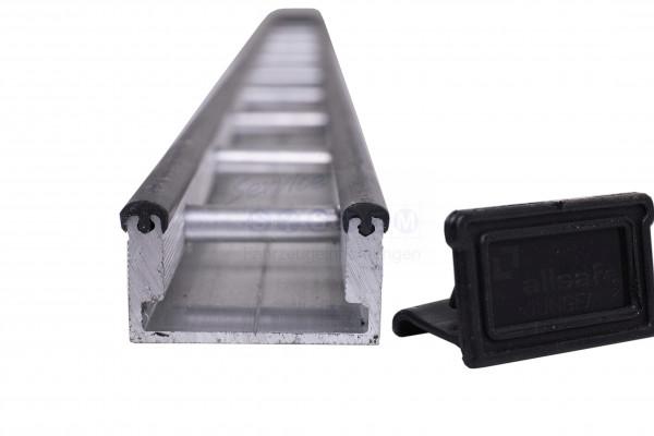 E-STZS Endkappen für Stäbchenzurrschiene Aluminium schwarz