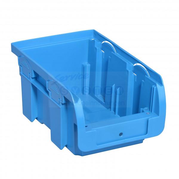 SB Stapelsichtboxen aus PP Compact 2-195 blau