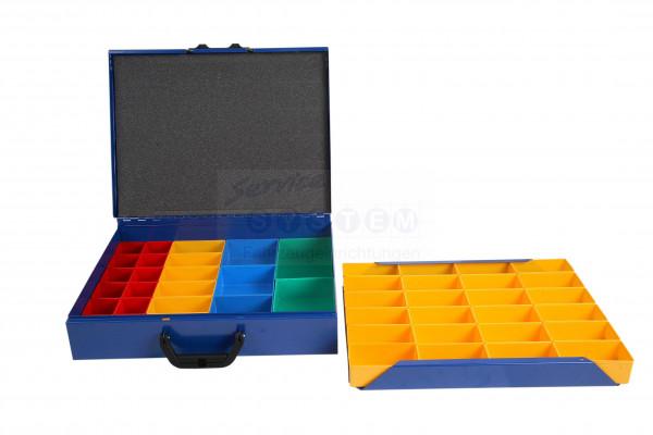 SK-N Sortimentskoffer mit 46 Kunststoffboxen SK-N130-46